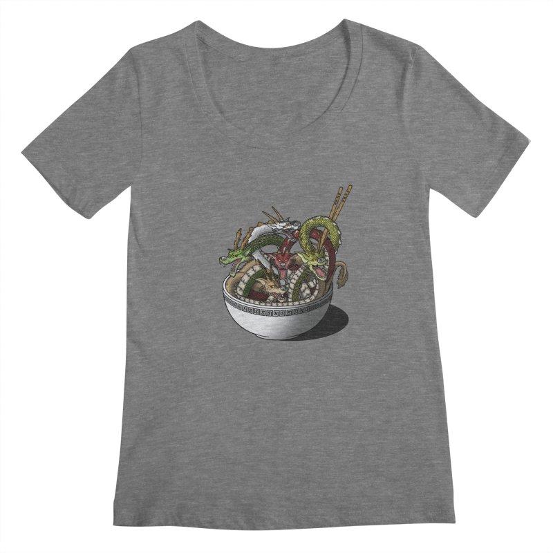 Dragon noodles. Women's Scoopneck by JCMaziu shop