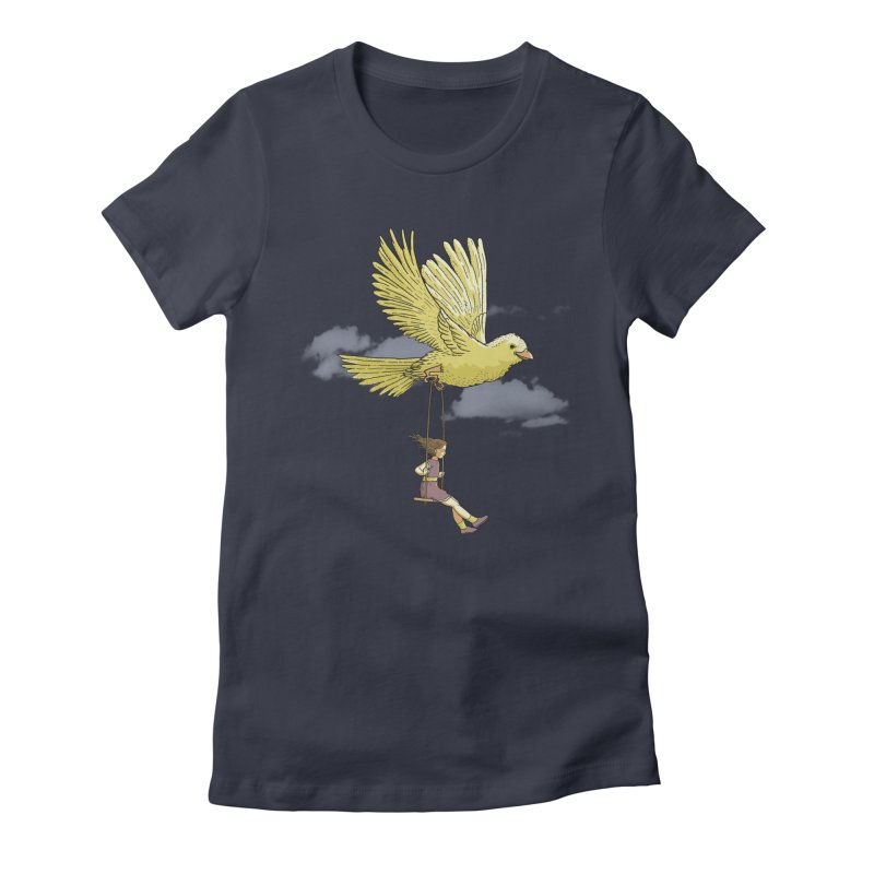 Higher, up to the sky! Women's Fitted T-Shirt by JCMaziu shop