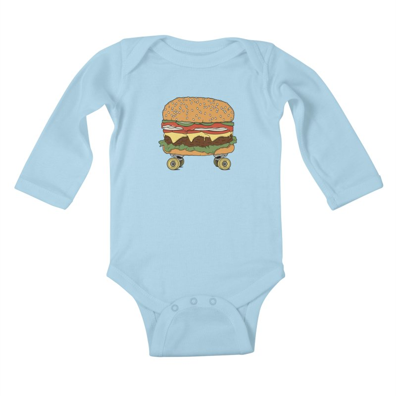 Nose+cheese+tail. Kids Baby Longsleeve Bodysuit by JCMaziu shop