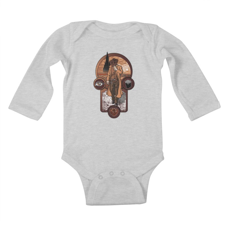 The gunslinger creed. Kids Baby Longsleeve Bodysuit by JCMaziu shop
