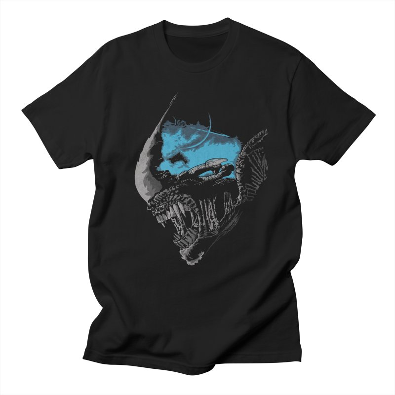 On a dark moon. in Men's T-shirt Black by JCMaziu shop