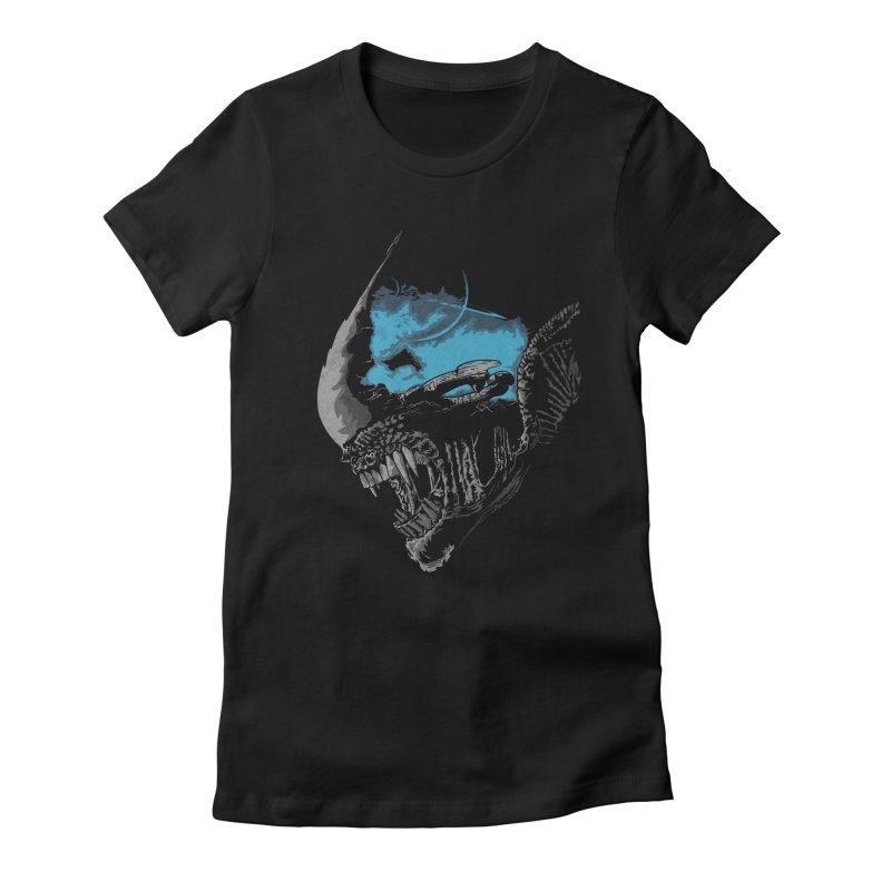 On a dark moon. Women's Fitted T-Shirt by JCMaziu shop