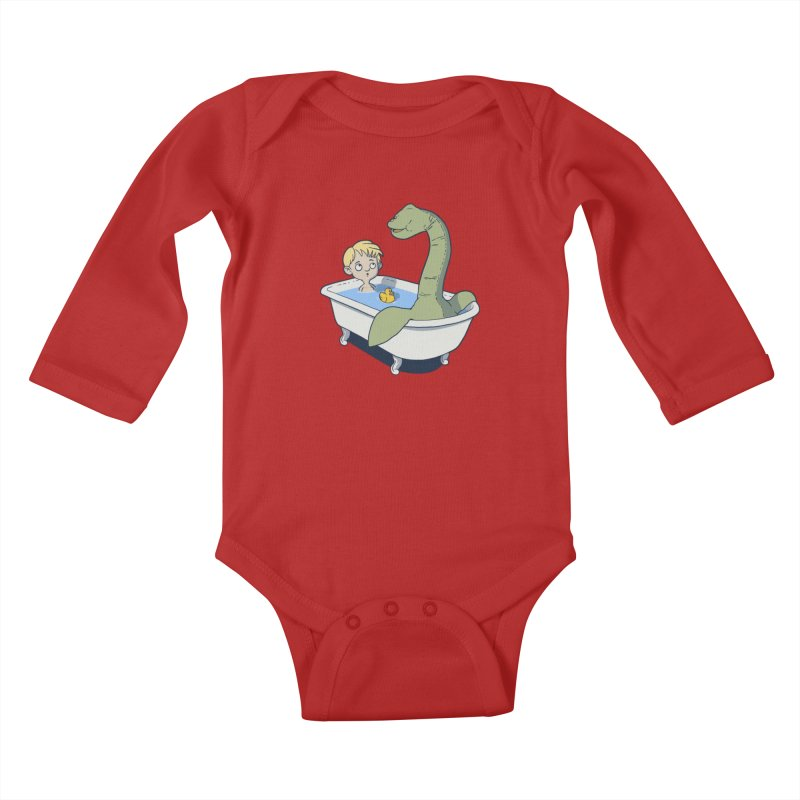 There's something in my bath. Kids Baby Longsleeve Bodysuit by JCMaziu shop
