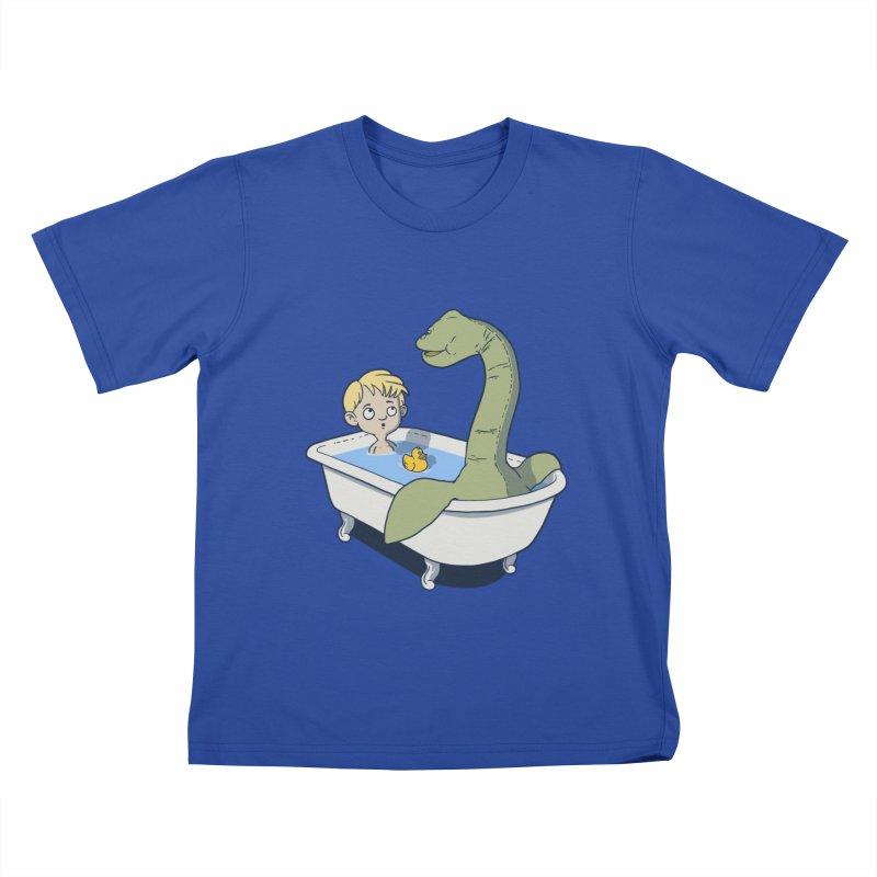 There's something in my bath. Kids T-shirt by JCMaziu shop