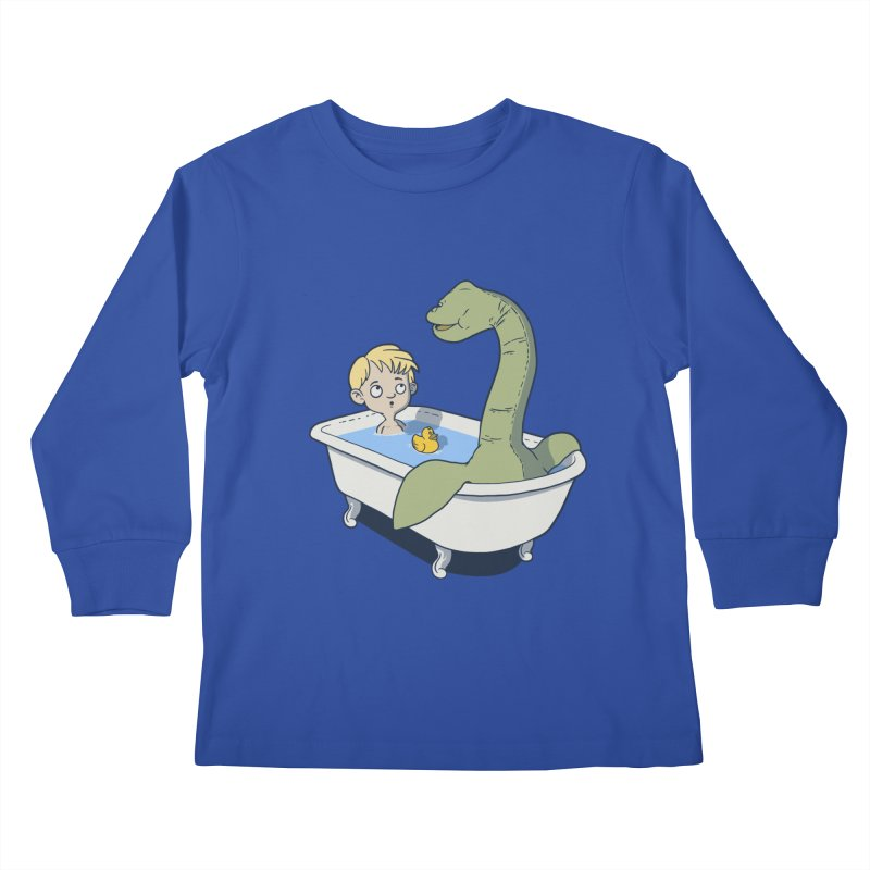 There's something in my bath. Kids Longsleeve T-Shirt by JCMaziu shop