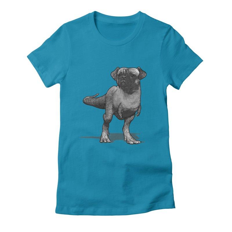 PUGussaurus Rex Women's Fitted T-Shirt by JCMaziu shop
