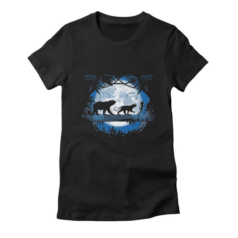 Jungle Pals. Women's Fitted T-Shirt by JCMaziu shop