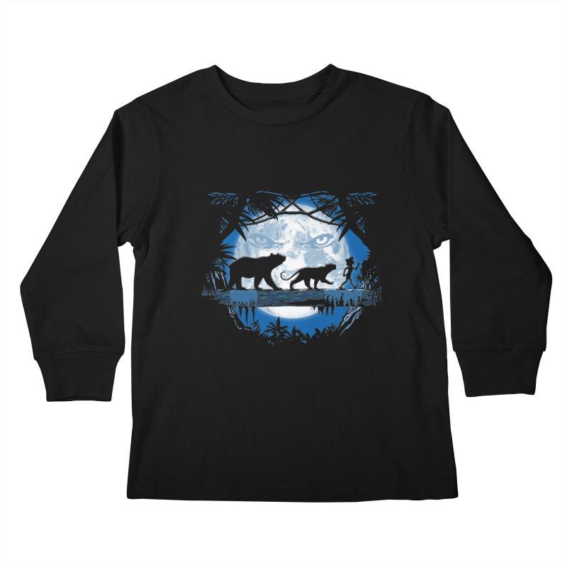Jungle Pals. Kids Longsleeve T-Shirt by JCMaziu shop