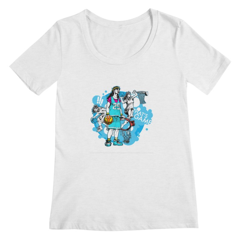 That's Game (white) Women's Scoopneck by jconart's Artist Shop