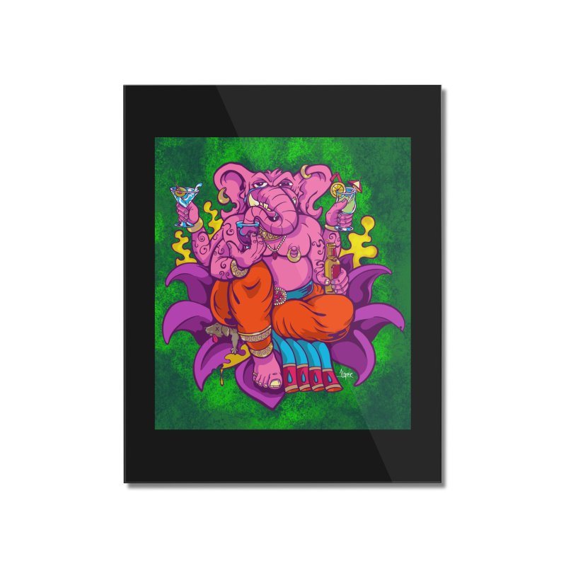 Galusha, God of Drink Home Mounted Acrylic Print by The Art of JCooper
