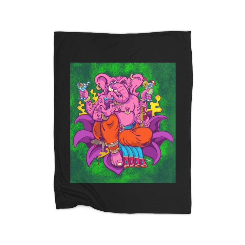 Galusha, God of Drink Home Blanket by The Art of JCooper