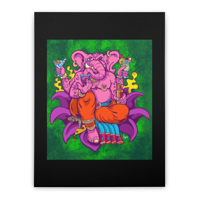 Galusha, God of Drink Home Stretched Canvas by The Art of JCooper