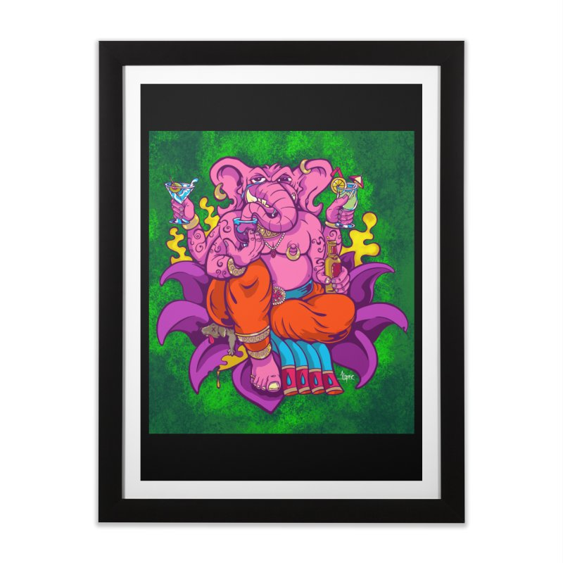 Galusha, God of Drink Home Framed Fine Art Print by The Art of JCooper