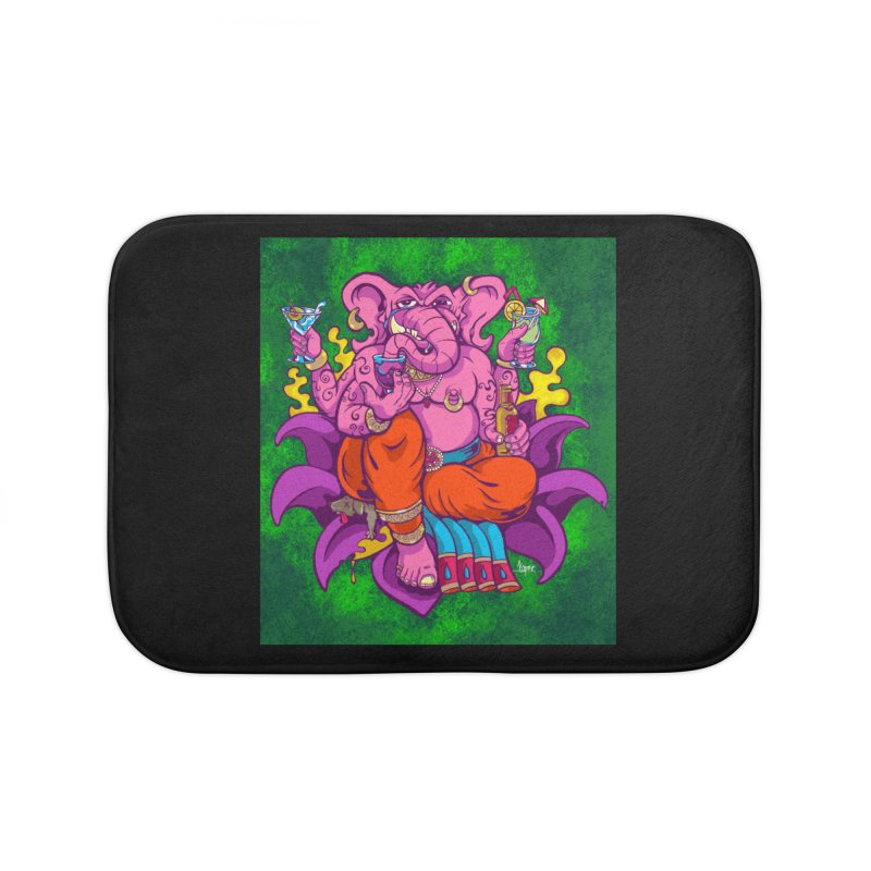 Galusha, God of Drink Home Bath Mat by The Art of JCooper