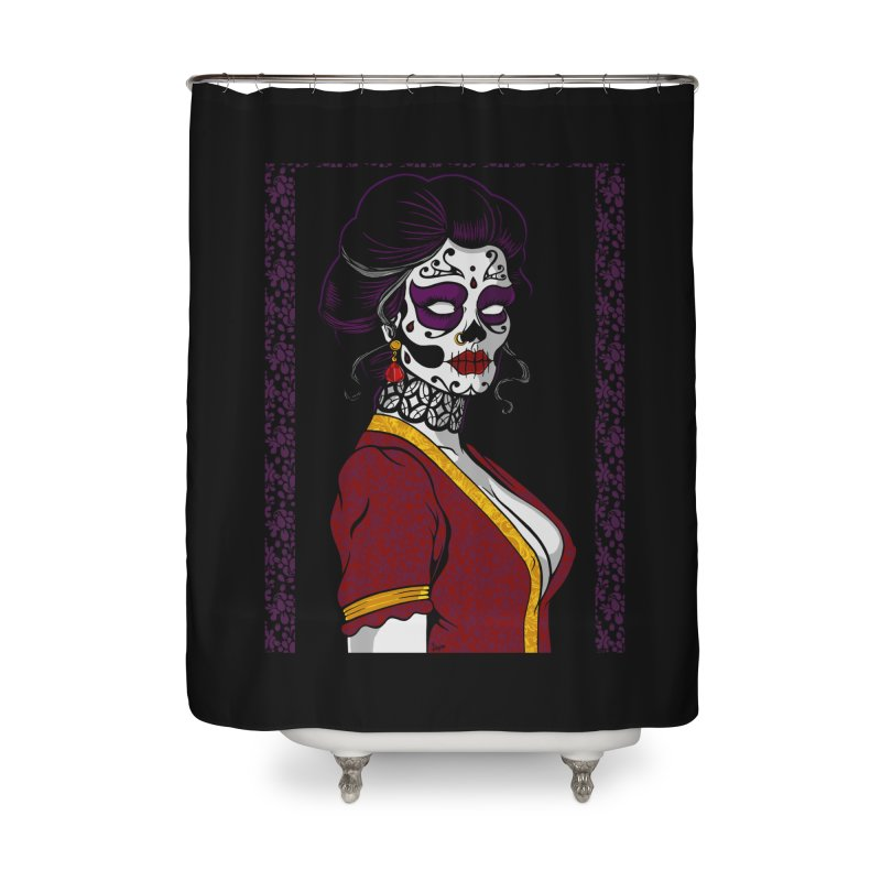 Sugar Skull Home Shower Curtain by The Art of JCooper