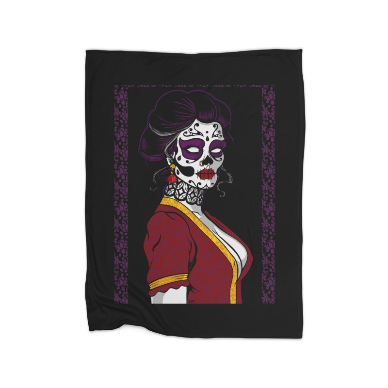 Sugar Skull Home Blanket by The Art of JCooper