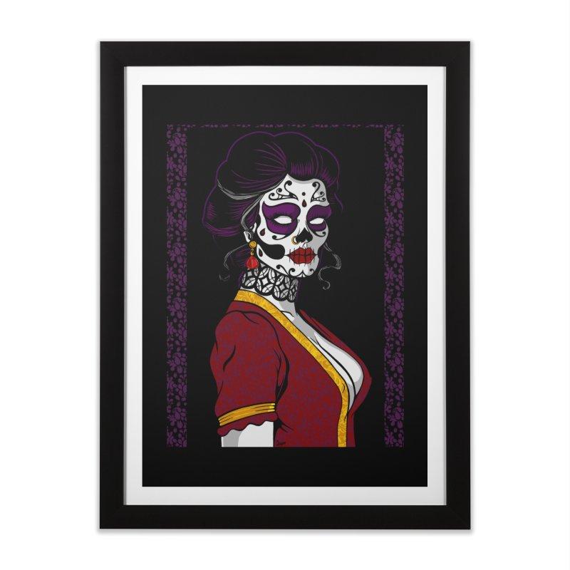 Sugar Skull Home Framed Fine Art Print by The Art of JCooper