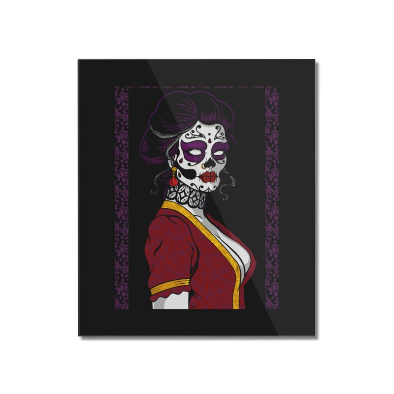 Sugar Skull Home Mounted Acrylic Print by The Art of JCooper