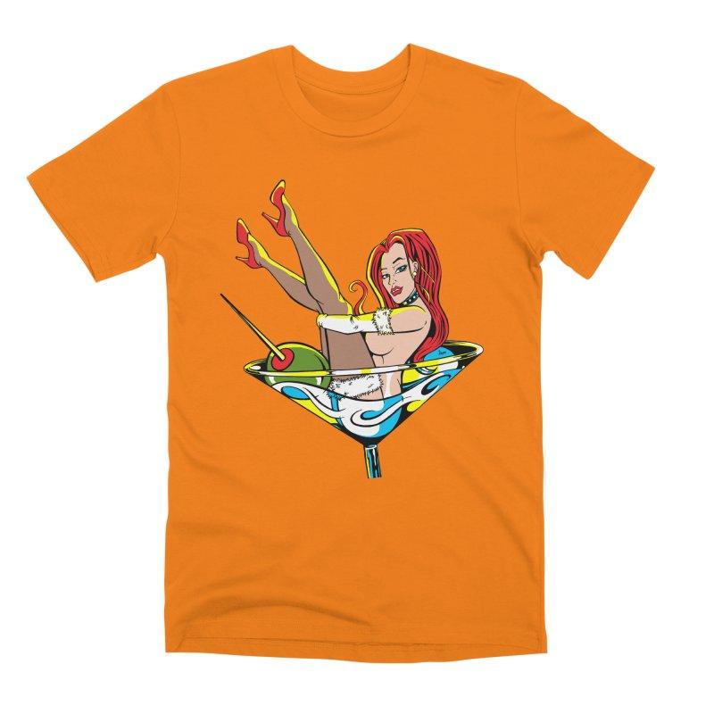 Martini Girl Men's T-Shirt by The Art of JCooper