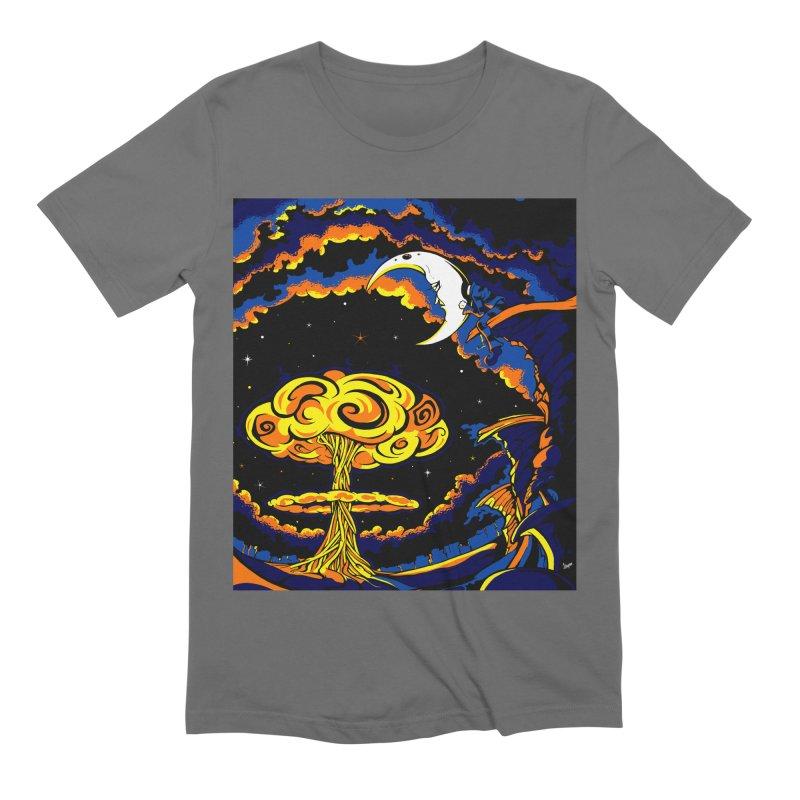 Moon Man Men's T-Shirt by The Art of JCooper