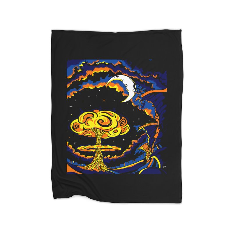 Moon Man Home Blanket by The Art of JCooper