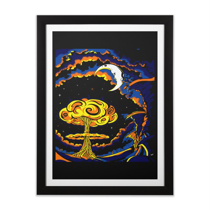 Moon Man Home Framed Fine Art Print by The Art of JCooper