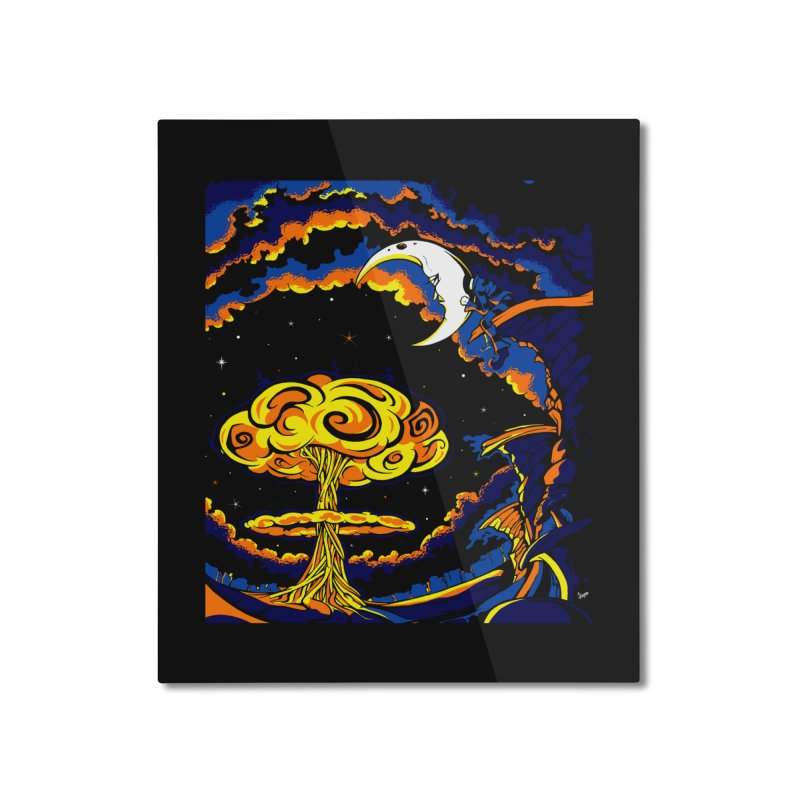 Moon Man Home Mounted Aluminum Print by The Art of JCooper