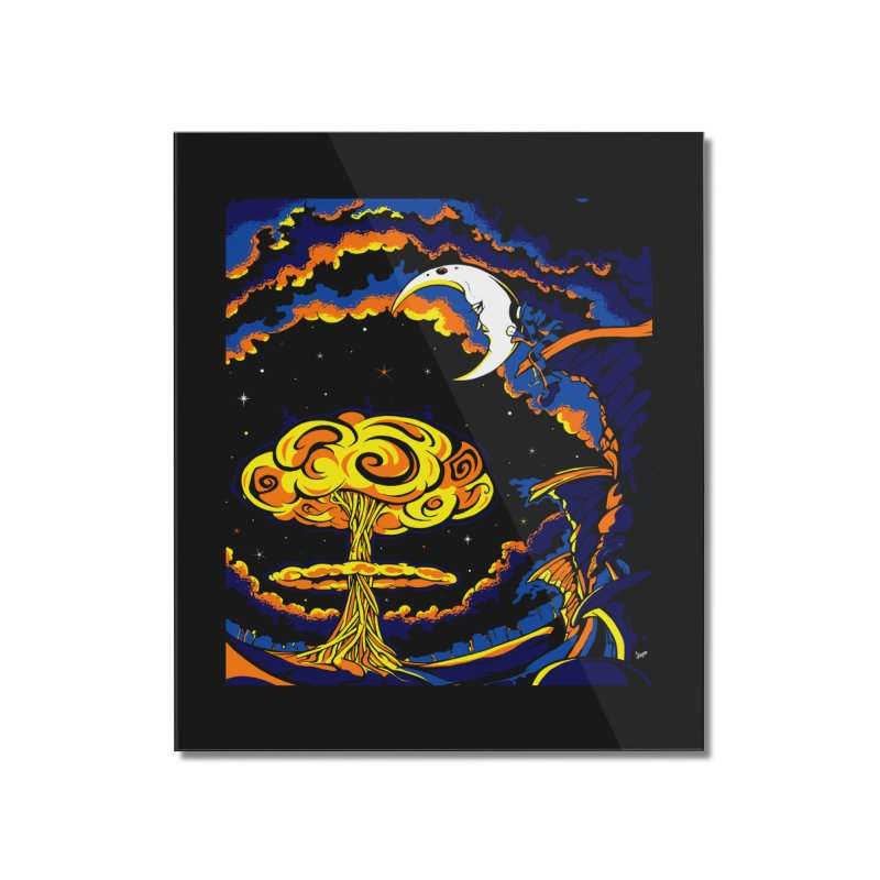 Moon Man Home Mounted Acrylic Print by The Art of JCooper