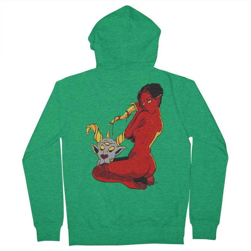 Goat Girl Men's Zip-Up Hoody by The Art of JCooper