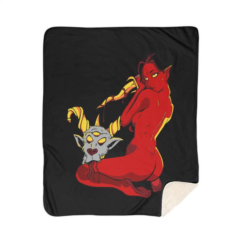 Goat Girl Home Blanket by The Art of JCooper