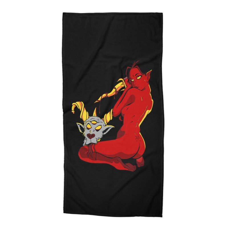 Goat Girl Accessories Beach Towel by The Art of JCooper