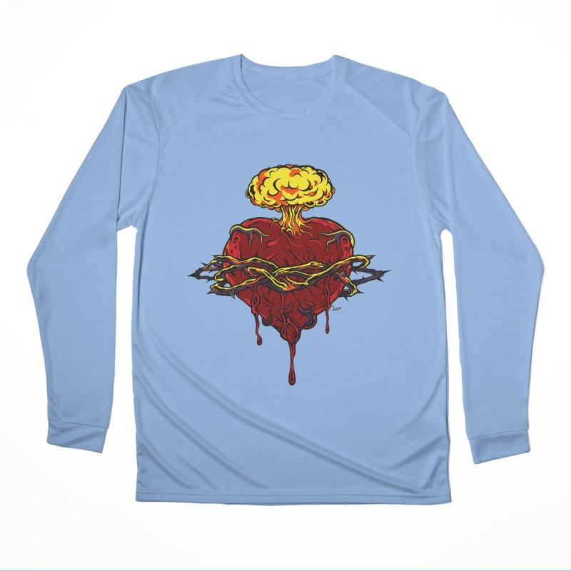 Exploding Heart Women's Longsleeve T-Shirt by The Art of JCooper