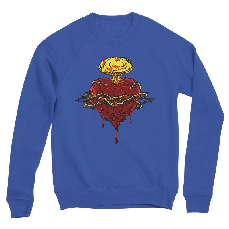 Exploding Heart Men's Sweatshirt by The Art of JCooper