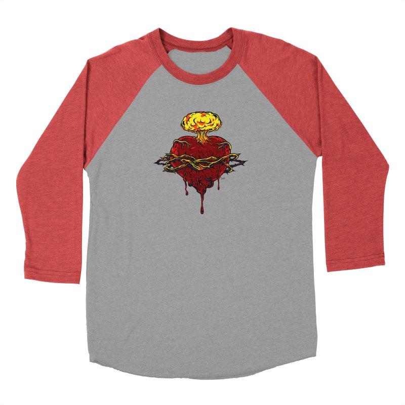 Exploding Heart Men's Longsleeve T-Shirt by The Art of JCooper