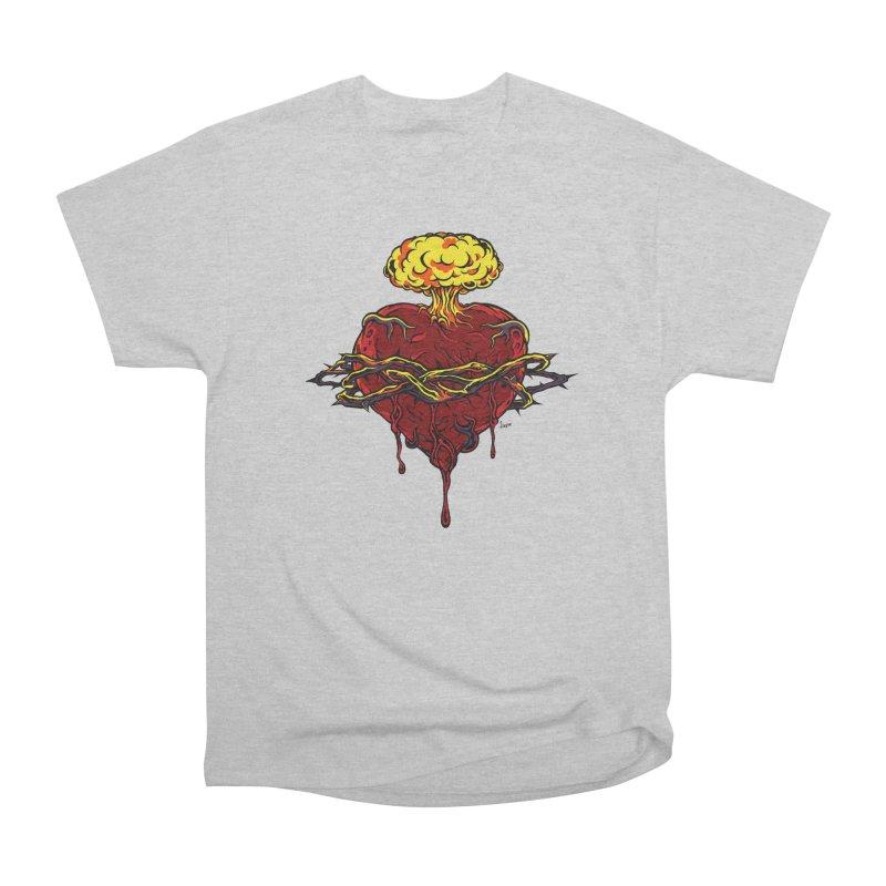 Exploding Heart Men's T-Shirt by The Art of JCooper