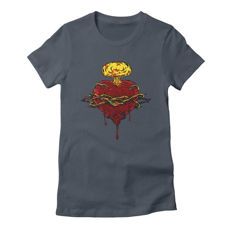 Exploding Heart Women's T-Shirt by The Art of JCooper