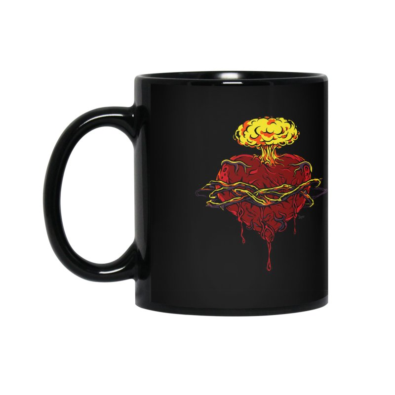 Exploding Heart Accessories Mug by The Art of JCooper