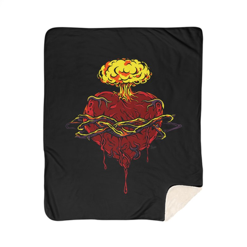 Exploding Heart Home Blanket by The Art of JCooper