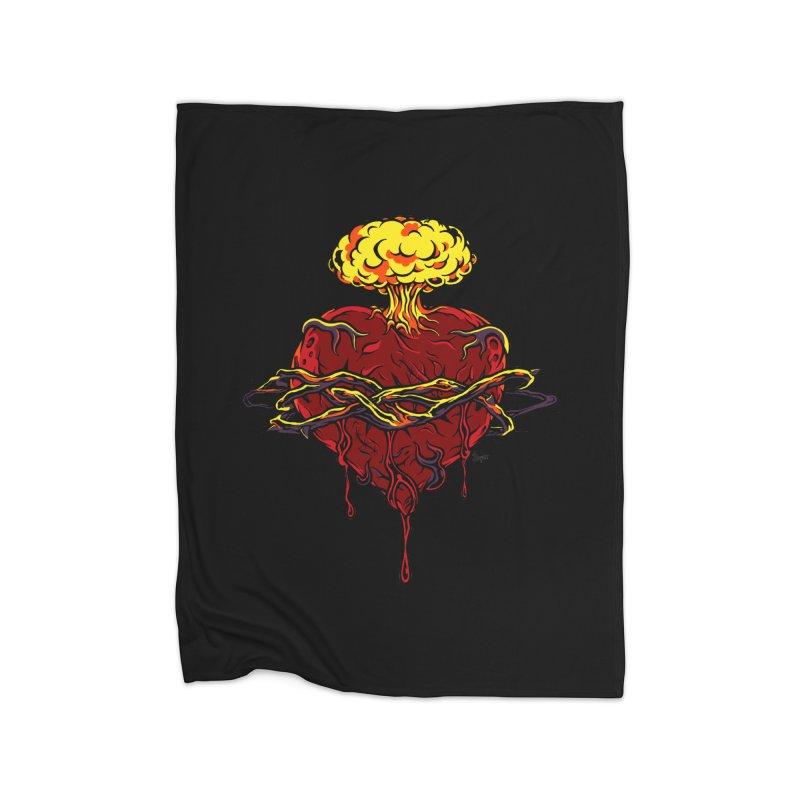 Exploding Heart Home Blanket by The Art of JCooper