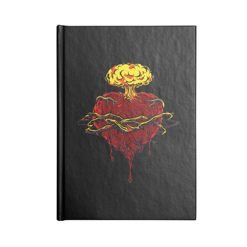 Exploding Heart Accessories Notebook by The Art of JCooper