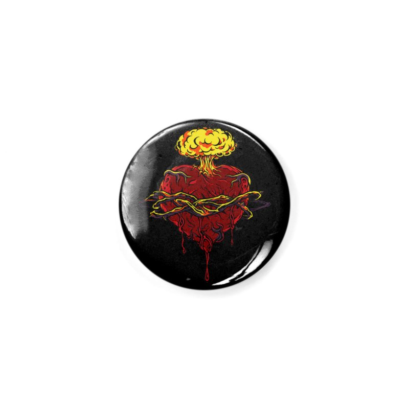 Exploding Heart Accessories Button by The Art of JCooper