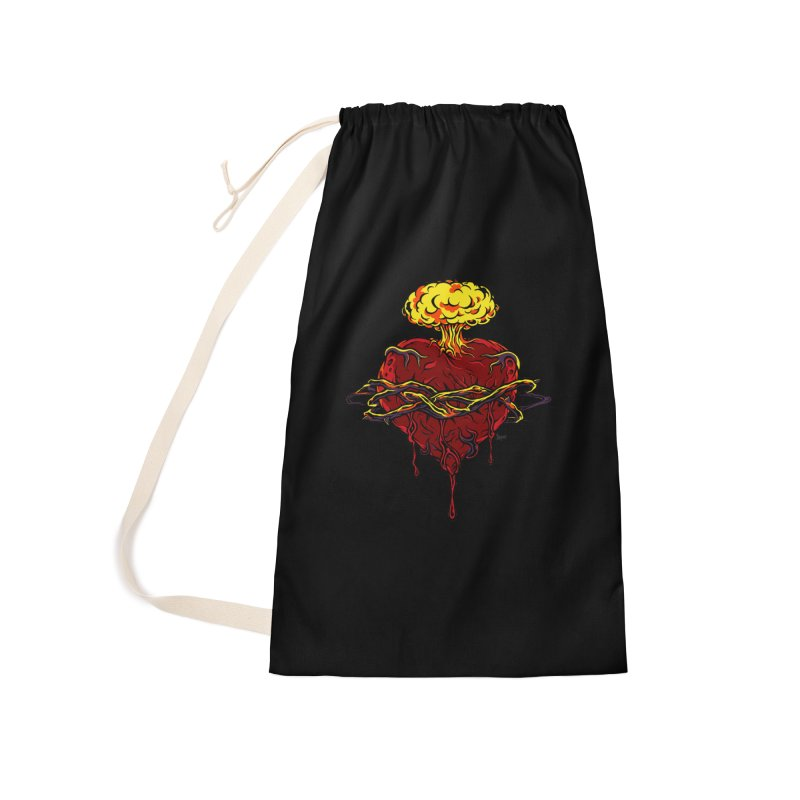 Exploding Heart Accessories Bag by The Art of JCooper