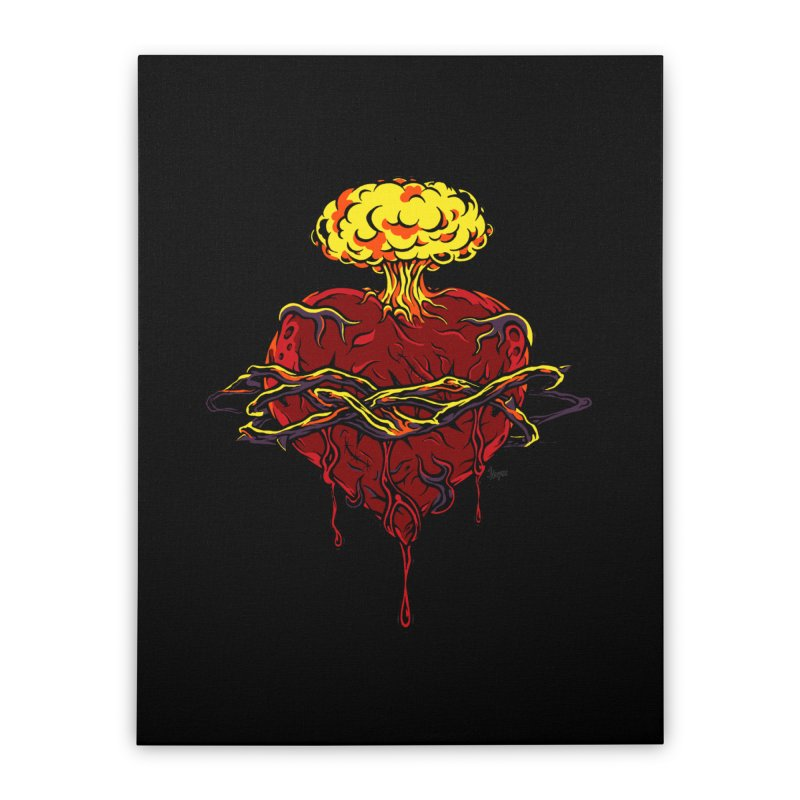 Exploding Heart Home Stretched Canvas by The Art of JCooper