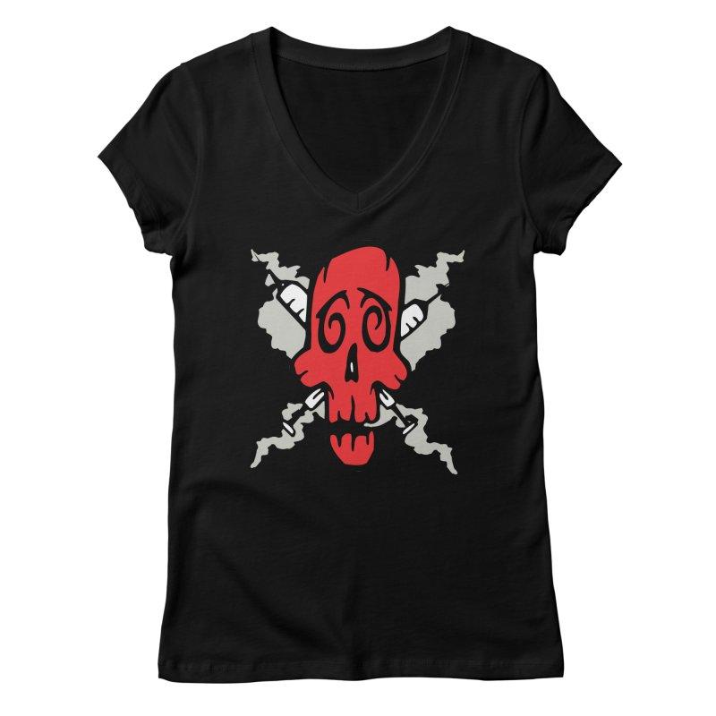 SikSkull Women's V-Neck by The Art of JCooper