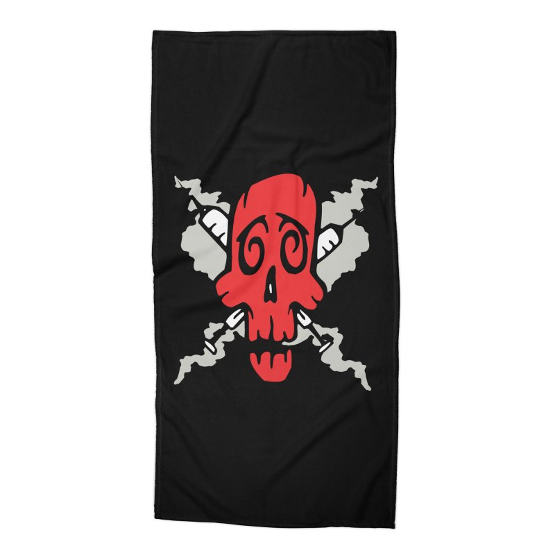 SikSkull Accessories Beach Towel by The Art of JCooper