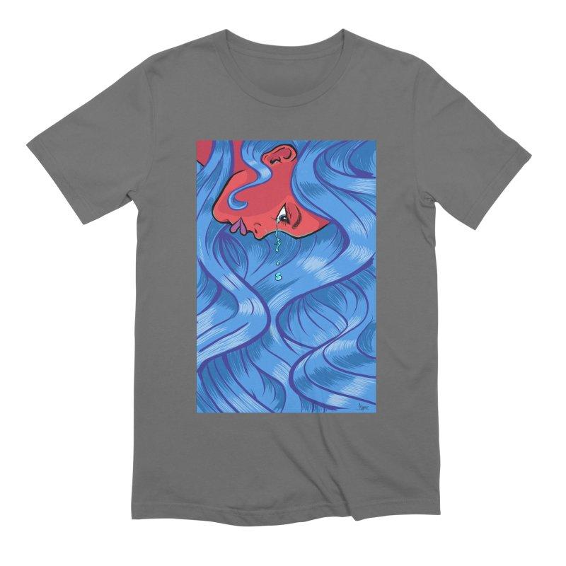 LadyRed Men's T-Shirt by The Art of JCooper