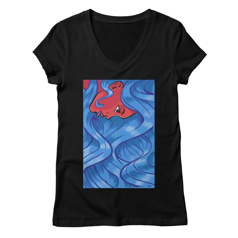 LadyRed Women's V-Neck by The Art of JCooper
