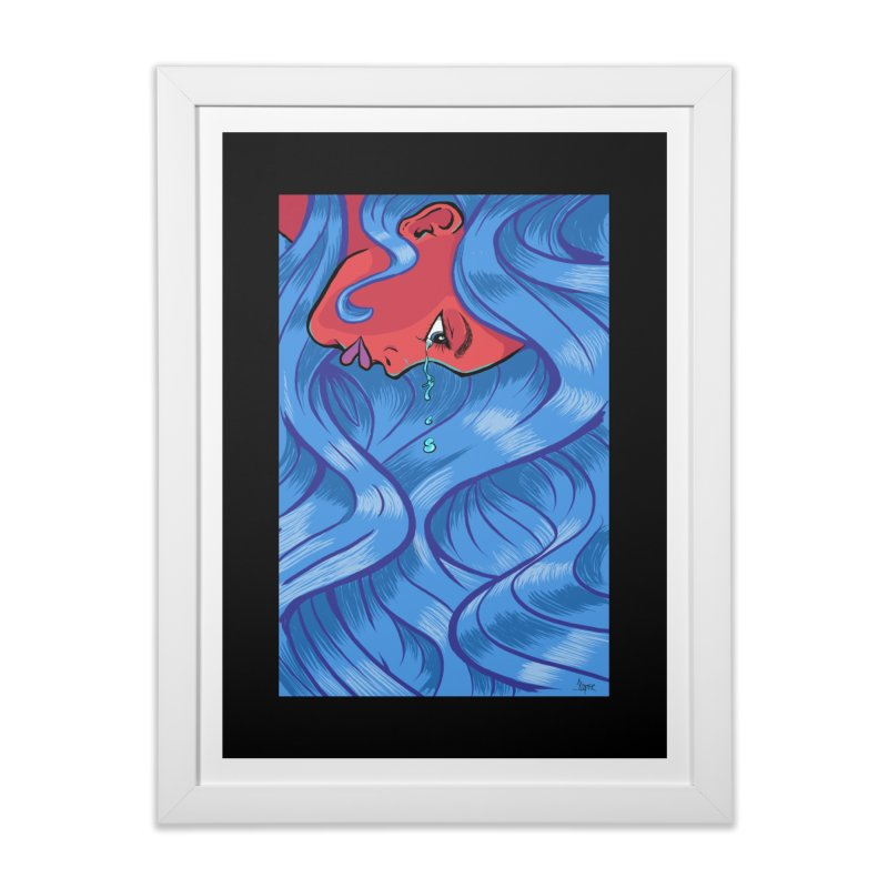 LadyRed Home Framed Fine Art Print by The Art of JCooper