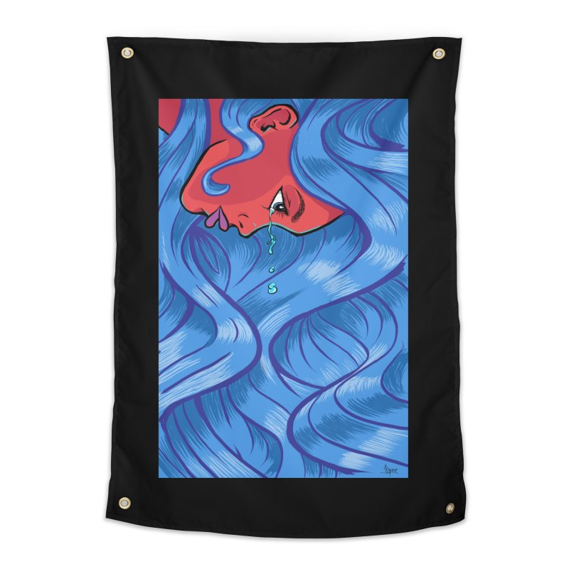 LadyRed Home Tapestry by The Art of JCooper