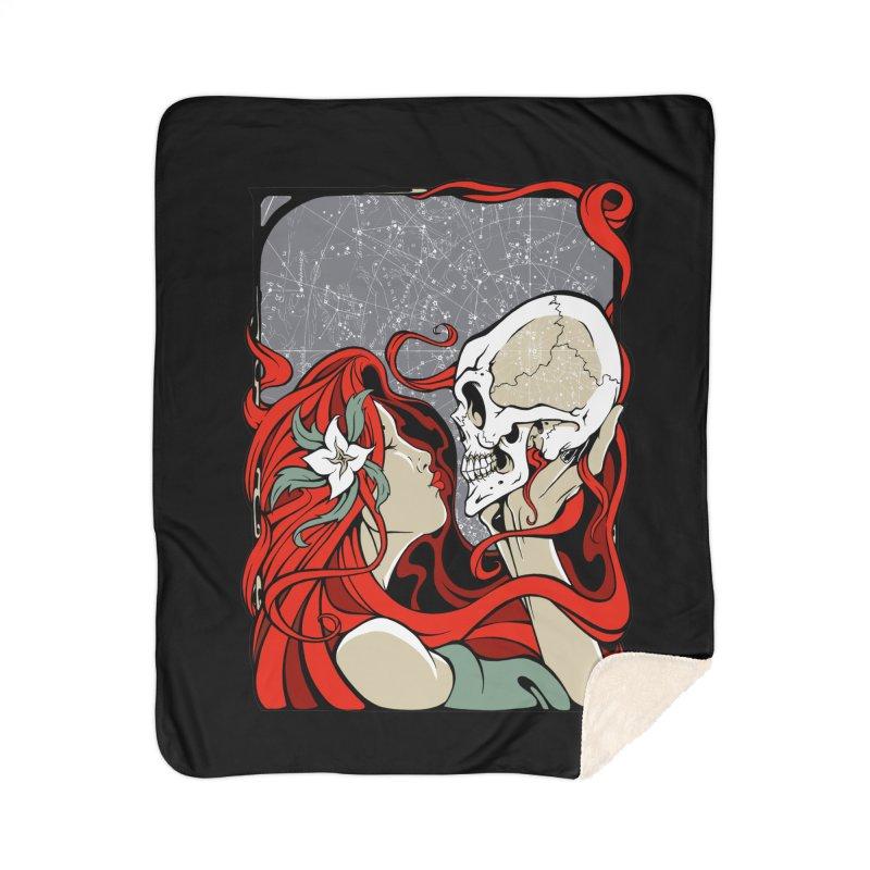 SkullKiss Home Blanket by The Art of JCooper
